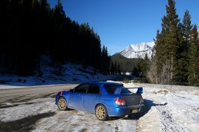 Subaru Impreza zimą